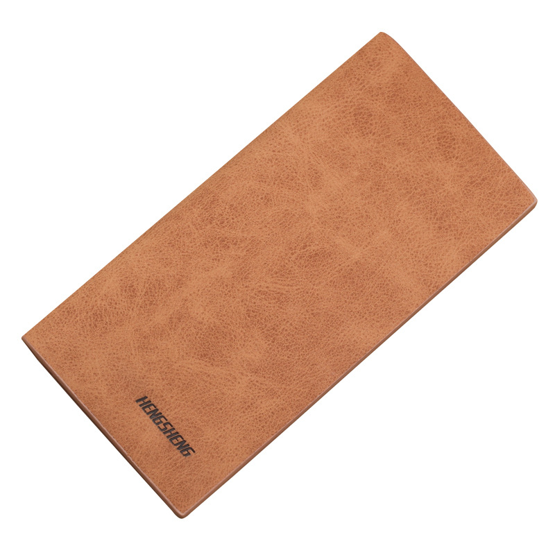 HENGSHENG Brand Vintage Thin Men Wallet Big Capacity Fashion Male Wallets Purses with Card Holder for Man Gift Free Shipping men s short leather wallets male famous brand business purses with card holder wallet for men