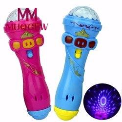 2019 bonito mini brinquedo engraçado iluminação microfone sem fio modelo brinquedo melhor presente música karaoke 15