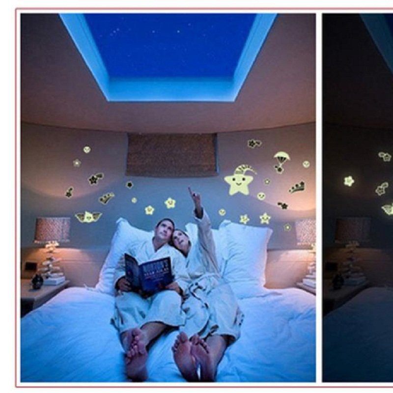 Hot Selling!Cartoon Home Decals Decor Glow In The Dark Wall Sticker Meteor Shower New Arrival Apr27