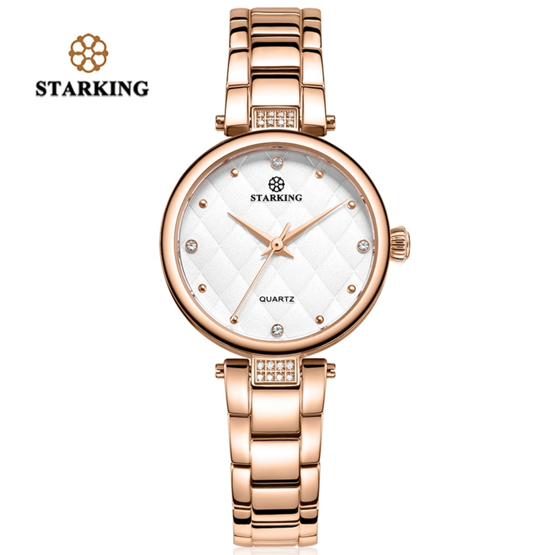STARKING Brand Luxury Crystal Rose Gold Watches Women Fashion Bracelet Dress Wristwatch Ladies Quartz Sports Relogio Feminino brand kimio luxury women s watches rose gold business crystal women bracelet watches relogio feminino ladies quartz wristwatch