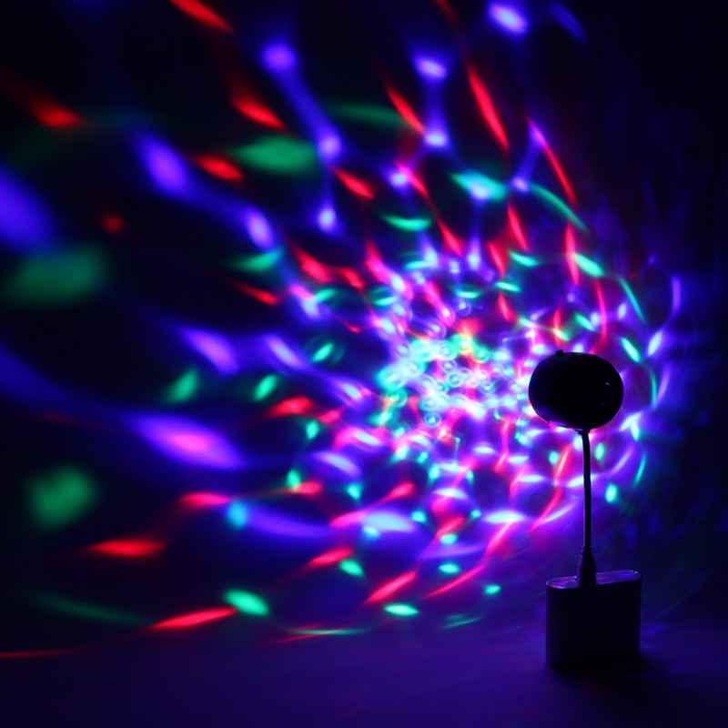 2018 USB Powered Mini Magic Ball Colorful Car stage lights Rotating Disco Party Bar Laser Projector Lamp LED Stage Lighting
