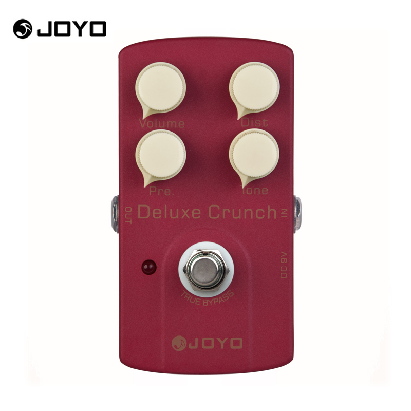 JOYO JF-39 Deluxe Crunch Electric Guitarra Violao Guitar Effect Distortion Pedal True Bypass Design Hot aroma adr 3 dumbler amp simulator guitar effect pedal mini single pedals with true bypass aluminium alloy guitar accessories