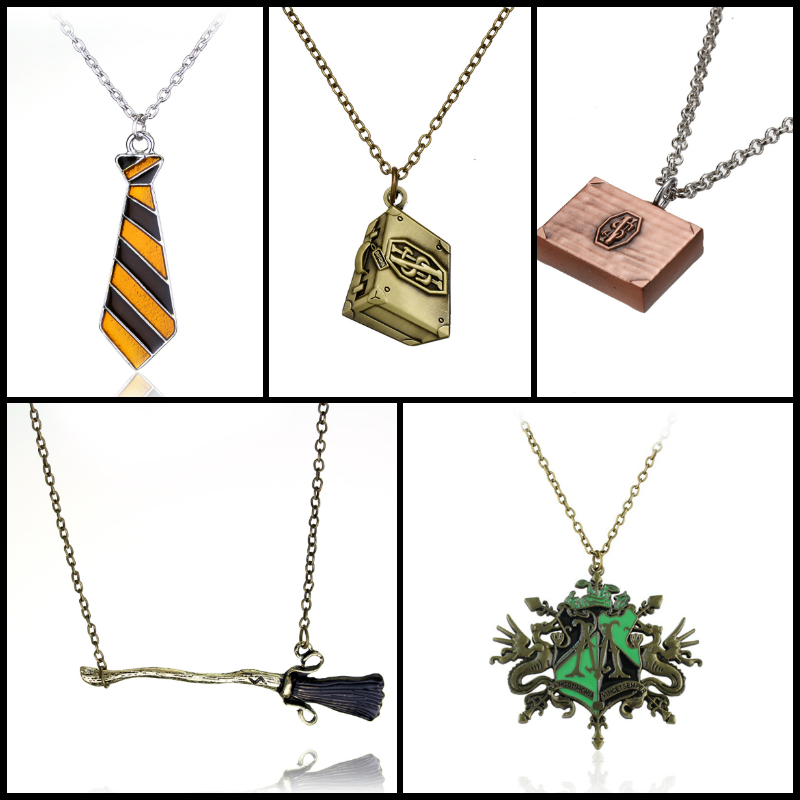 Classic Necklace The Deathly Hallows Magic Broom Necklace & Pendant Hot Sale Jewelrey Christmas Gifts