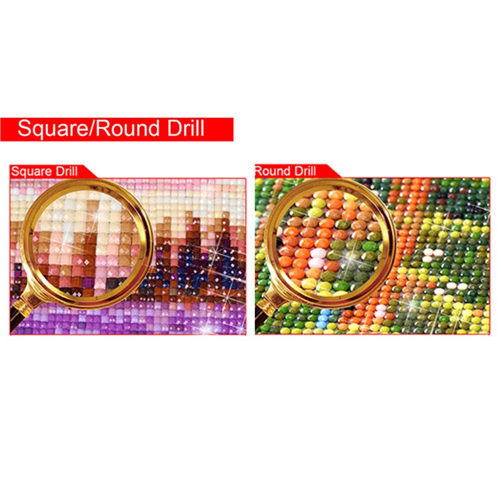 Fai da Te 5D Disegni E Schemi per Puntocroce Circolare Mosaico Diamante Ricamo Gatti Tigri Cucito Modelli Dipinti Strass Jk