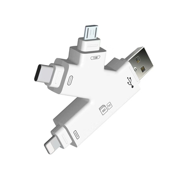 K 4 in 1 type-C i Flash Drive USB Micro SD&TF Card Reader Adapter for iPhone pro 11 7 8 X XS max  for iPad Touch MAC PC Amdrpod