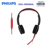 Philips SHG7210 Video game Headphone 2 Meters Long Line Wire Control Headset with Microphone for Xiaomi MP3 Player Official Test