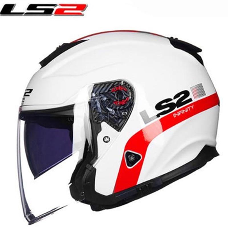 LS2 of521 half face vintage motorcycle font b helmet b font Fiber glass retro racing motorbike