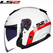 LS2 of521 mezzo del fronte vintage moto rcycle casco In Fibra di vetro retro da corsa moto rbike casco 3/4 viso aperto vaspa moto caschi