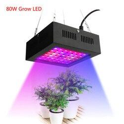 80W rosną świecąca roślina Panel LED pełne spektrum kwiat do uprawy W pomieszczeniu lampa do uprawy wzrost 42 LED namiot warzywny cieplarnianych światła AC85 ~ 265V