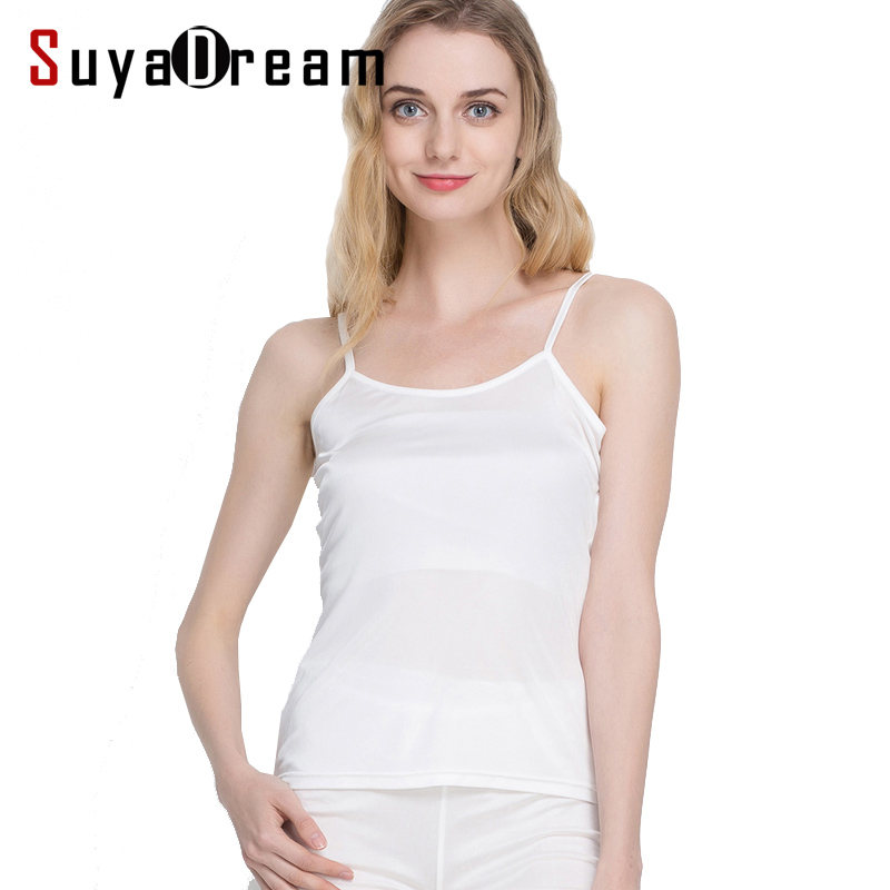 Women silk Camis 100% Natural silk Basic Camisoles Comfortable Silk tank tops 2018 Summer halter top Black White Nude Pink