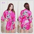 S M L XL XXL XXXL Robe Female Plus Size Satin Kimono Robe White Silk Wedding Robes Red Silk