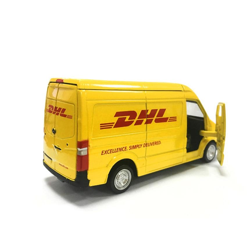 Truck DHL Simulation Toy Vehicles Alloy Pull Back Mini Car