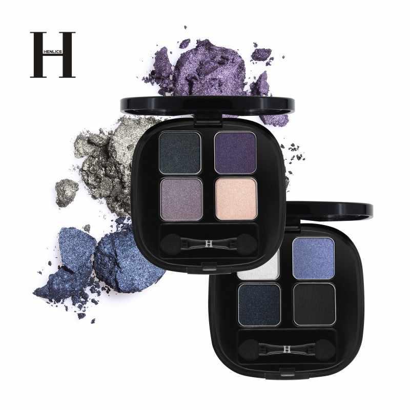 Henlics Shimmer Eyeshadow Palet Tahan Lama Glitter Eyeshadow Pallet Telanjang Pigmen Tahan Air PRO Kecantikan Shadow