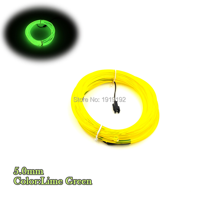 EL wire 5.0mm not Include EL Driver LED Electroluminescent Glowing ...