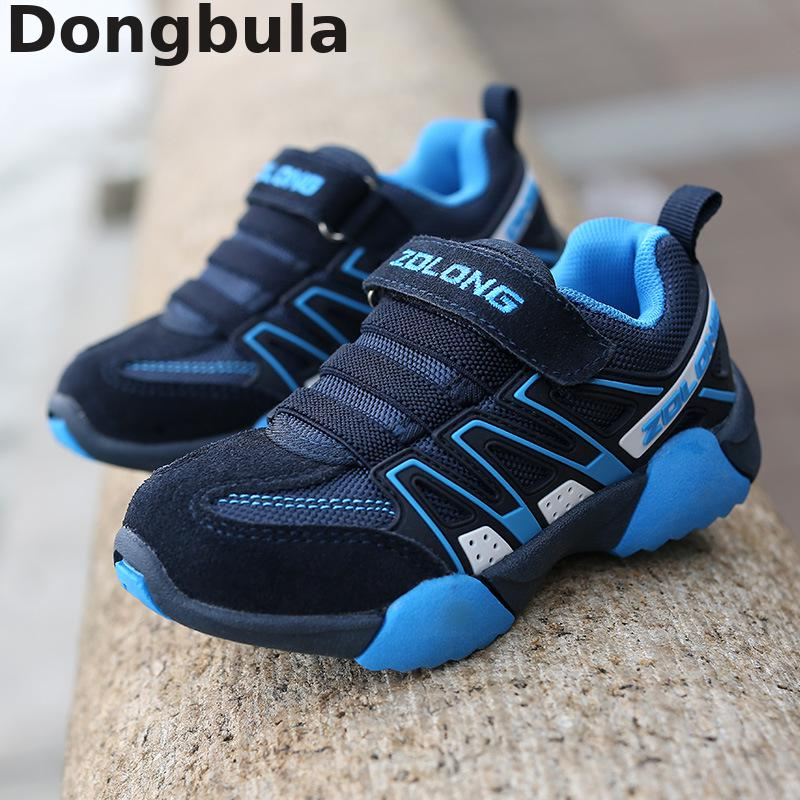 2019 New Genuine Leather Boys Sneakers For Girls Casual Shoes Kids Student Fashion Non-slip Running Shoes Breathable Boys Shoes