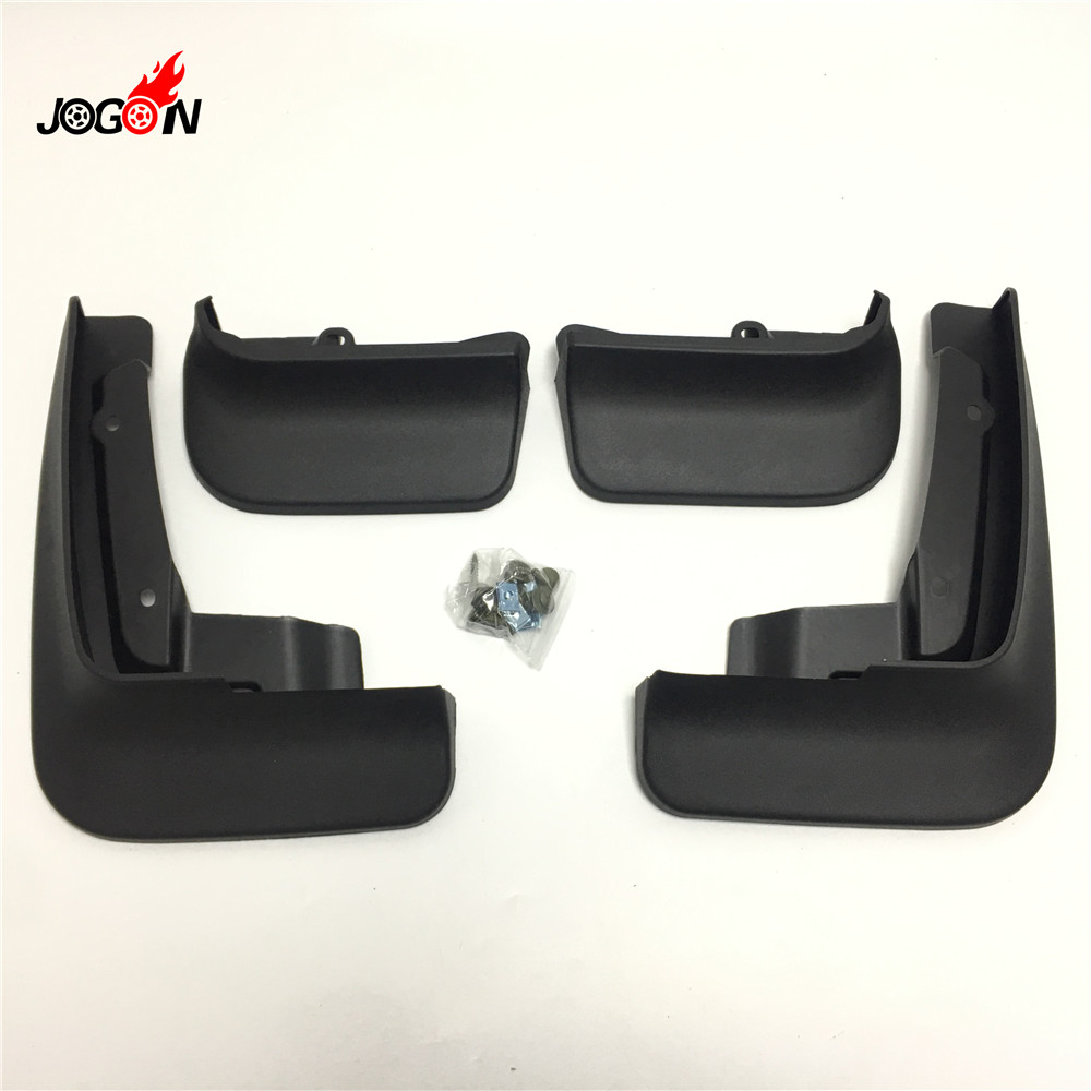 4pcs Black Front Rear Mudguards guards front and rear for Volkswagen T6 transporter 2017 2018 MULIVAN