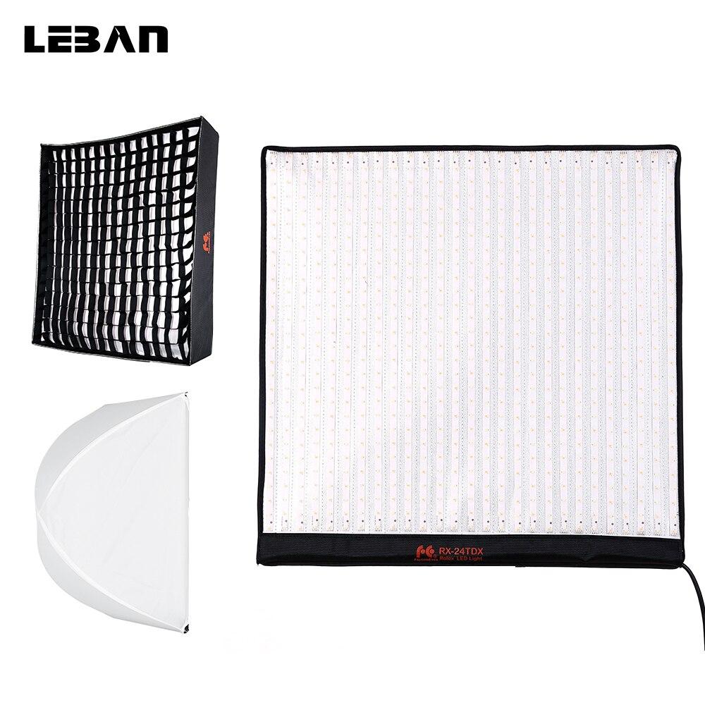 Falcon Eyes RX 24TDX 150W Bi Color Portable LED Photo Video Light Lamp Flexible Square Cloth