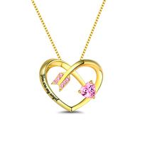AILIN Customizes Love Arrow Necklace Gold Color Birthstone Love Necklace You are My Angel Necklace Women