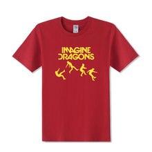 7970d2bb8b763 Imagine Dragons música rock hombres camiseta para hombres 2018 verano nuevo  manga corta o Masajeadores de