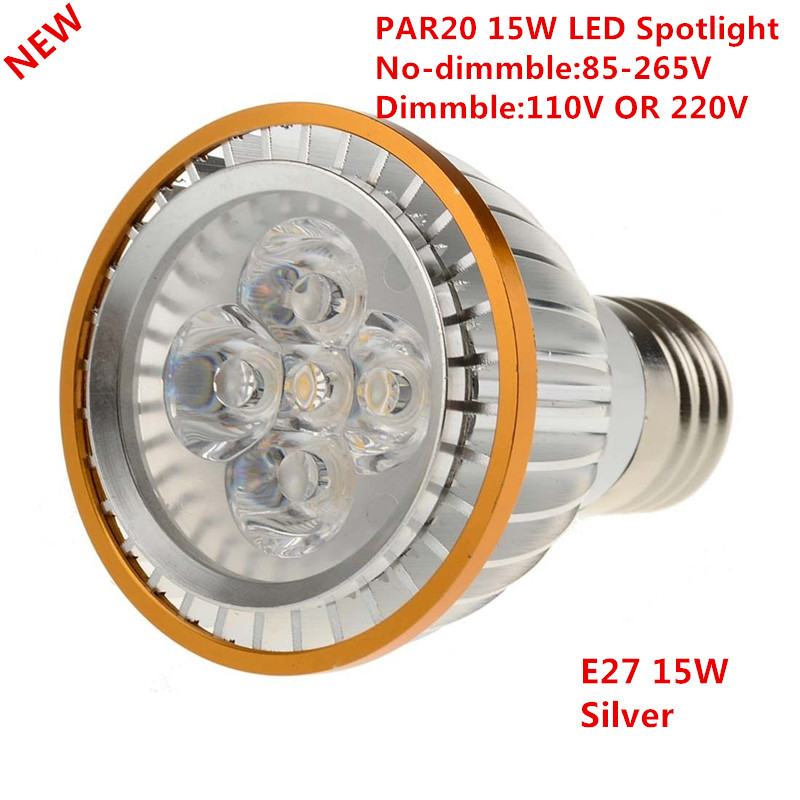30 DHL Factory Sale LED PAR20 Bulbs E27 Dimmable 15W 5 3W Warm White Cold White