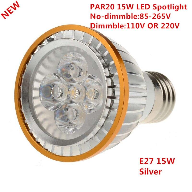 Radient 30*dhl Factory Sale Led Par20 Bulbs E27 Dimmable 15w 5*3w Warm White/cold White/white 110v 220v Led Par 20 P20 Spotlights Lamps Lights & Lighting Led Bulbs & Tubes