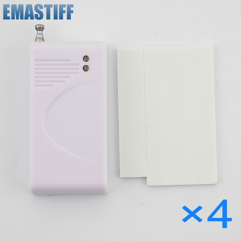 eMastiff Wireless Vibration Break Breakage Glass Sensor Detector 433MHz 4pcs wireless vibration break breakage glass sensor detector 433mhz for alarm system