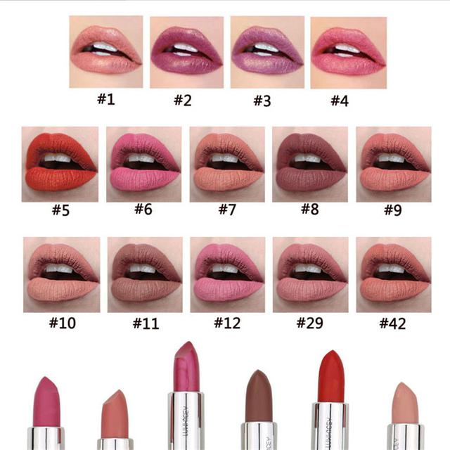 14 Colors Matte Lipstick Lips Make Up Waterproof Velvet Lip Stick Nude Red Brown Lips Makeup Matt Long Lasting Lipsticks