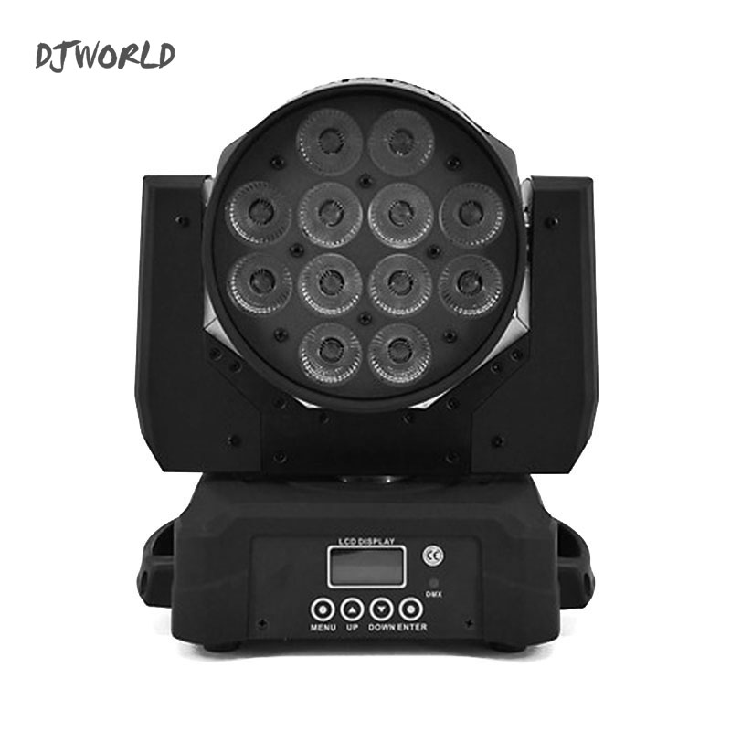 LED 12x18w Moving Head light RGBWA UV Wash stage fixture dmx 512 controller For Stage Disco Club Party churches, concert product