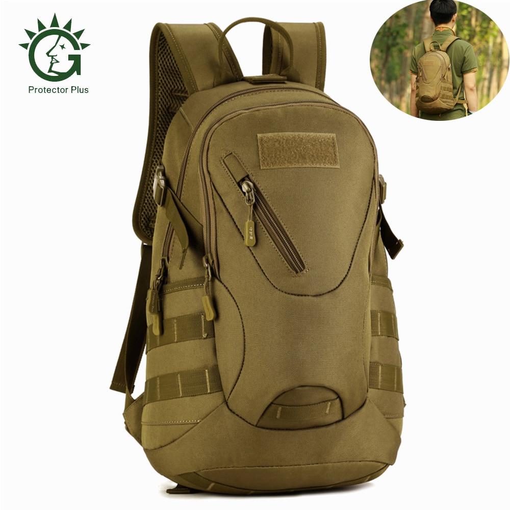 Protector Plus 20L Waterproof Backpack Military Tactical Molle Army Bag Camping Hiking Rucksack Durable School Bag Outdoor Bag