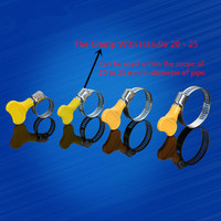 5PCS YT1658  Stainless Steel Hose Hoops The Pipe Clamp Coupling Fixed Clamp  Gas Pipe Hoop With Wrench 20-25