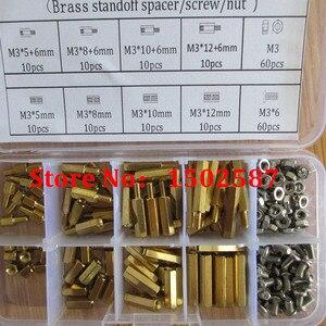 200pcs M3 PCB Hex Male Female Thread Bra