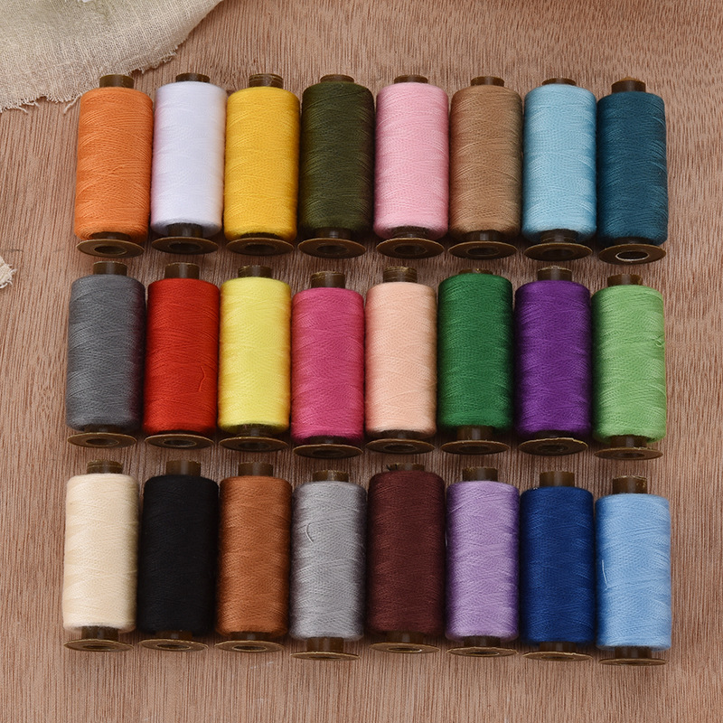 24 Colors Polyester Sewing Embroidery Thread for Hand and Sewing Machine Use