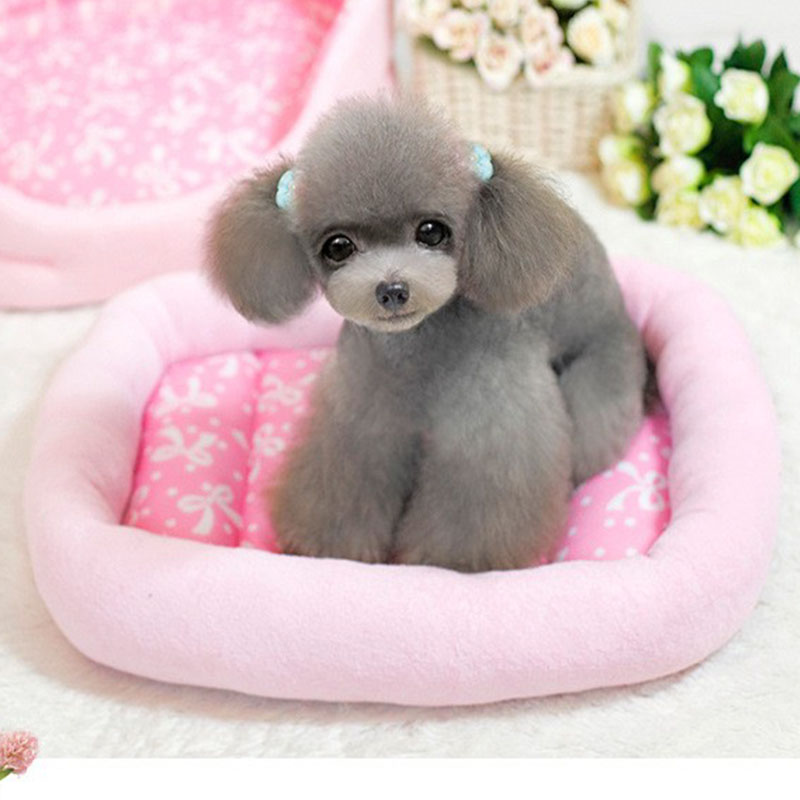 Summer Cooling Dog Bed House Pad Cute Cat Cushion Mat Breathable Mesh Small Chihuahua Pet Princess Sofa Kennel Nest In Houses Kennels Pens