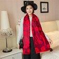 winter scarf women 2016 new fashion Pashmina printing Chinese Red Year of fate Multi purpose Keep warm bandana horse hijab shawl