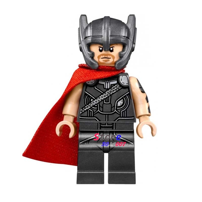 50pcs super heroes marvel comics model Avengers Thor Hammer building block bricks for kits kid girls house games children toy