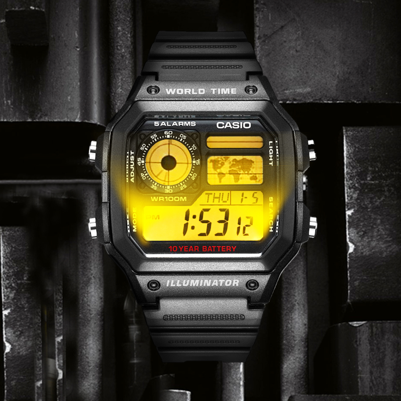 Casio watch Explosion watch men set brand luxury LED military digital watch sport Waterproof quartz men watch relogio masculino in Quartz Watches from Watches