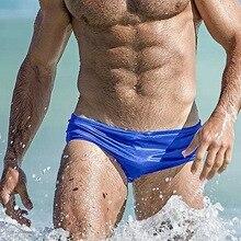 2019 nuevo traje de baño para hombres de escritos nadar tronco de verano traje de baño playa Surf pantalones cortos primavera caliente piscina traje de baño