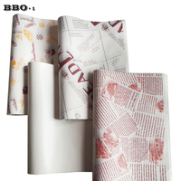 1000pcs/pack Baking Oil absorbing Paper Tray Oil proof Pads Bread Paper Cakes Burger Tray Oil proof pad Paper For Restaurant