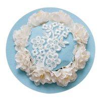 1 UNID Moda Elegante de Las Señoras de Encaje Hecho A Mano Flor Floral Side Mini Pinza de Pelo Del Sombrero Horquilla Tocado Del Partido de Baile