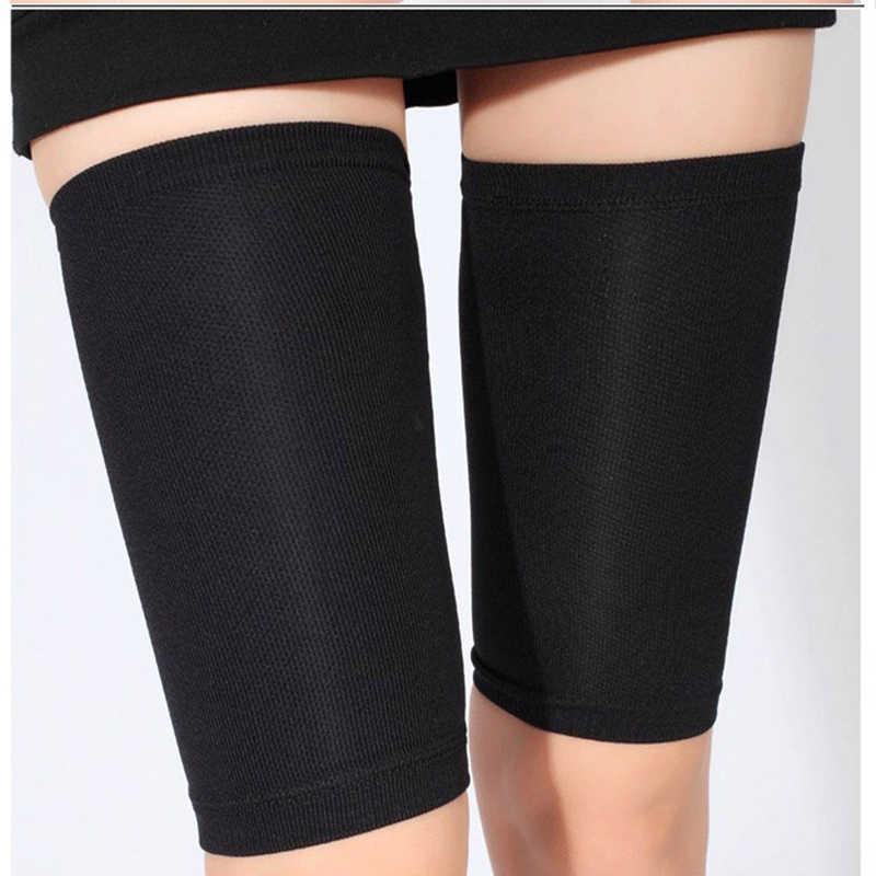 8211fd3e70d94b Compression Legwarmers Brace Slimming Thigh Leg Shaper Sleeves Socks  Hamstring Groin Support Leg Warmers Support Protector