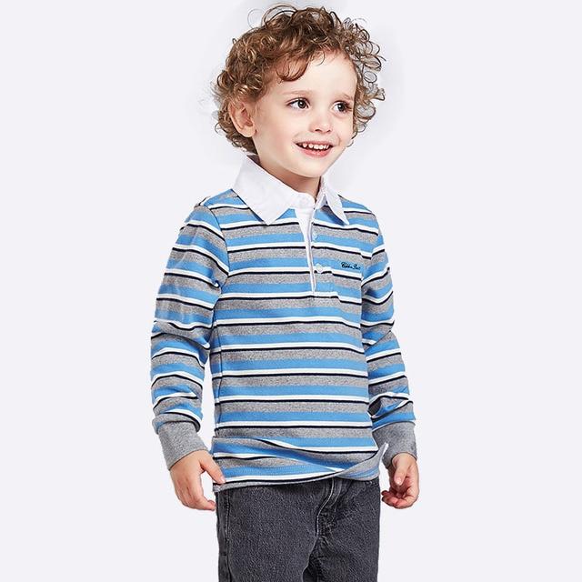 2017 Spring Baby Boy Clothing Kids Cotton Stripe Long Sleeve Polo Shirt Tops Blouse Boys Long Sleeve T Shirt Children Shirts Boy