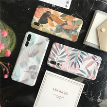 Meachy Funda for Huawei P20 P30 Lite Pro Case Leaf Hard Matte Phone Cases For Honor 10 8X 9 V20 V10 P10 P 20 Cover