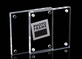 Square Vertical magnetic photo name frame acrylic poster frame picture Label desktop