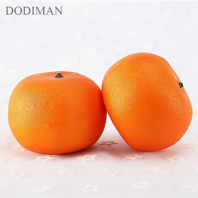 1Pcs High Lifelike Simulation Artificial Fruits Orange Fake Fruit Foam Model Ornaments Kitchen Photography Props Home Decoration