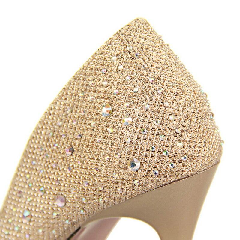2016 New Fashion Sexy Women Silver Rhinestone Wedding Shoes Platform ... 7af03429c75d