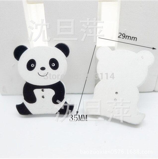 Panda holz malerei hand DIY bekleidungszubehör knöpfe kinder cartoon ...