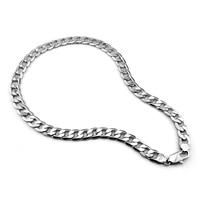 Fashion argento sterling 925 ciondolo collana in argento 100% uomini 12mm 66 cm larga maschi collana. commercio all'ingrosso argento Massiccio men gioielli