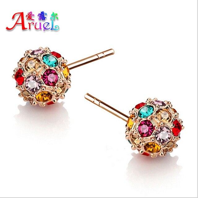 a34bbc758 Caliente nueva moda verano estilo pendientes brincos vintage aretes bola de  cristal pendiente para las mujeres