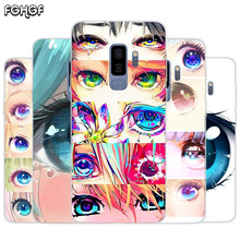 Charming Beautiful Eyes Painted Pattern TPU Back Case For Samsung Galaxy A50 A30 A10 S10 lite S9 S8 Plus M10 M20 Cover