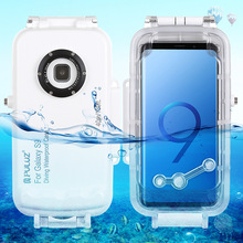 Underwater 40M Diving Waterproof Case Protective Cover Housing for Sumsung Galaxy S9 plus Smartphones